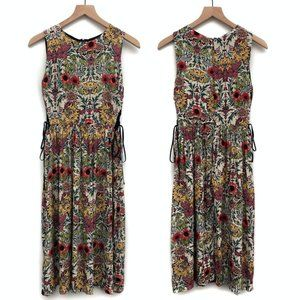 Topshop Colorful Botanical Floral Dress - Size 6
